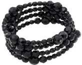 Carolee Jet Black Crystal 3-Row Bracelet