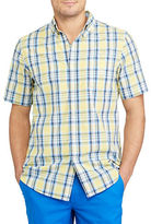 Chaps Big and Tall Short-Sleeve Plaid Sport Shirt