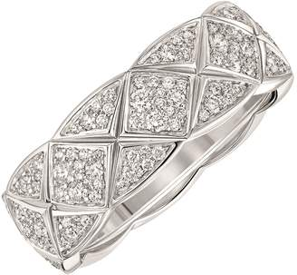 Chanel Small White Gold and Diamond Co Co Crush Ring