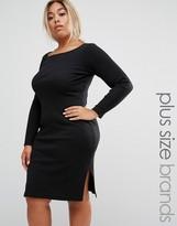 Junarose Ribbed Dress With Side Splits