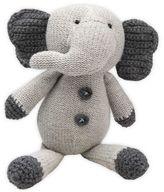 Elegant Baby Crochet Elephant Rattle in Grey