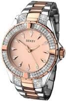 Seksy Rose Tone Dial Two Tone Bracelet Ladies Watch