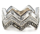 Judith Jack Sterling Silver Stacked Rings
