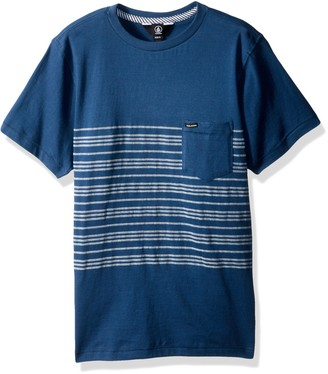 Volcom Young Mens Men's Short Sleeve Threezy Crew Shirt Shirt