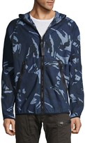 G Star Raw Camouflage-Print Hooded Jacket
