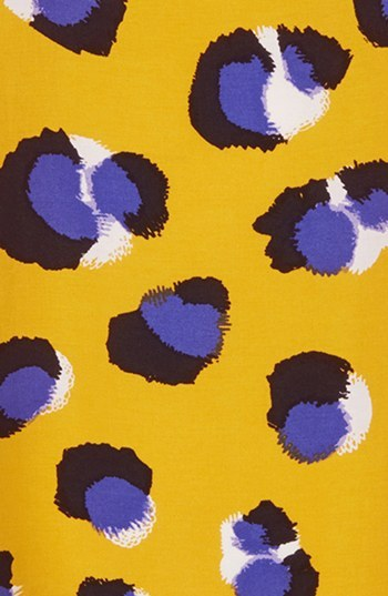 Topshop 'Nina' Leopard Print Tank Yellow 4