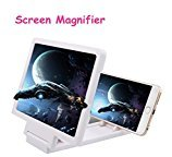 Emubody Mobile Phone Screen Magnifier Eyes Protection Display 3D Video Screen Amplifier Folding Enlarged Expander Stand (White)