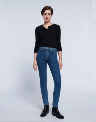 RE/DONE 60s Slim Henley Long Sleeve