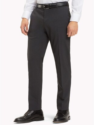 Tommy Hilfiger Virgin Wool Fitted Trousers