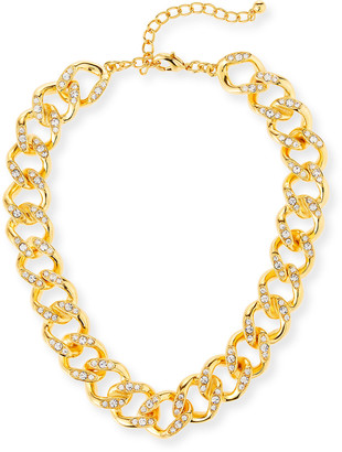 "Kenneth Jay Lane Crystal-Link Necklace, 22""L"