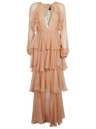 DSQUARED2 Multi-ruffled Long Dress