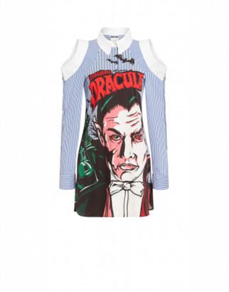 Moschino Dracula X Universal Dress Woman Blue Size 36 It - (2 Us)
