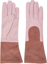 Gala mid-length contrast gloves