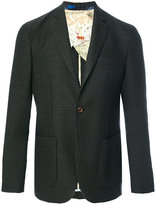 Etro tweed two-button blazer