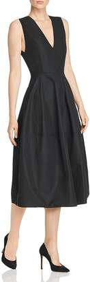 Narciso Rodriguez Cotton Taffeta A-Line Midi Dress