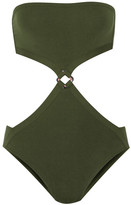 Eres Kube Satellite Cutout Bandeau Swimsuit - Army green