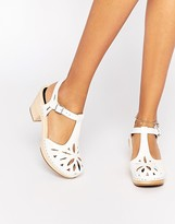 Swedish Hasbeens White Leather Lacy Sandals