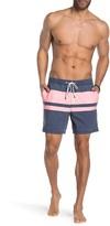 Dwindle Block Stripe Printed Board Shorts