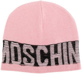 Moschino distressed logo beanie