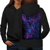 Bird Of Prey Attack Eagle Hawk Women L Hoodie Back | Wellcoda