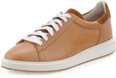 Brunello Cucinelli Men's Icarus Leather Sneaker, Beige