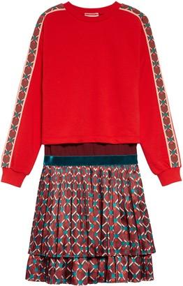 Scotch R'Belle Print Dress & Sweatshirt Set