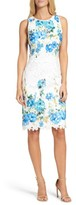 Maggy London Women's Print Lace Sheath Dress