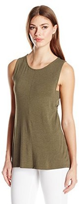 Design History Women's Side Tab Tank Camo Large