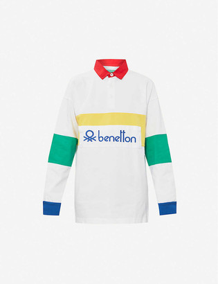 Benetton Logo-embroidered cotton polo shirt