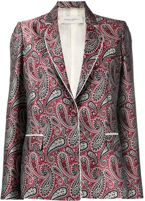Golden Goose Paisley Pattern Suit Jacket