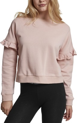 Urban Classics Women's Ladies Oversize Volant Crewneck Sweater