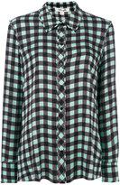 Diane von Furstenberg check long-sleeved shirt - women - Silk/Spandex/Elastane - 8