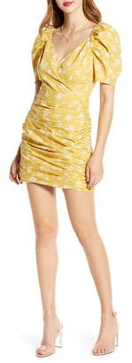 ENGLISH FACTORY Puff Sleeve Cotton Minidress