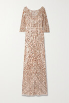 Thumbnail for your product : Reem Acra Embellished Tulle Gown - Pink
