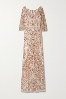 Reem Acra Embellished Tulle Gown - Pink