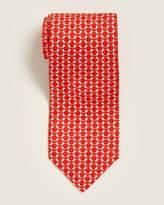 Salvatore Ferragamo Red Bird Print Tie