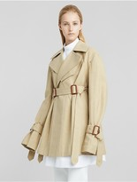 Calvin Klein Collection Cotton Linen Cropped Trench