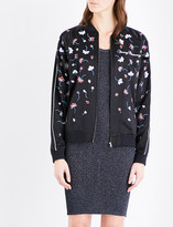 Opening Ceremony Flower-embroidered silk-satin bomber jacket