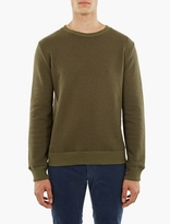 A.P.C. Green Textured Jeremie Sweatshirt