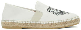 Kenzo White Canvas Tiger Head Espadrilles