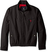 U.S. Polo Assn. Men's Micro Peached Windbreaker Jacket with Fleece Lining