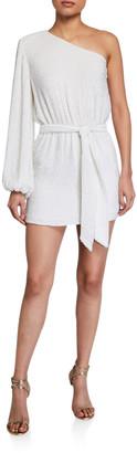 retrofete Bridget One-Shoulder Sequined Dress