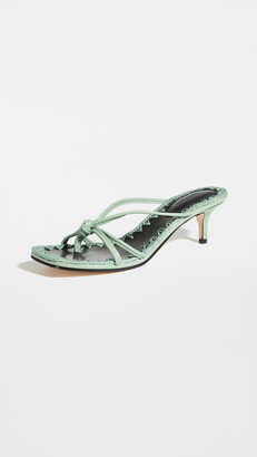 Mara & Mine Azeline Kitten Heel Sandals