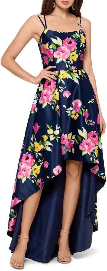 Xscape Evenings Floral High/Low Gown