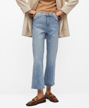 MANGO Women's Crop Flared Jeans