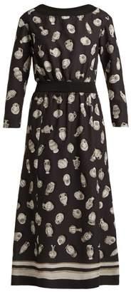 Altuzarra Paola Vase-print Satin Dress - Womens - Black Multi