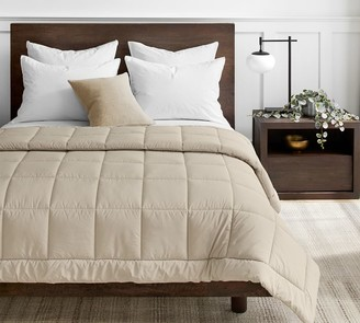 Pottery Barn Sport Luxe Comforter - Charcoal