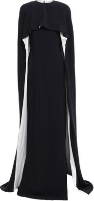 Stella McCartney Cape-effect Silk Satin-trimmed Crepe Gown