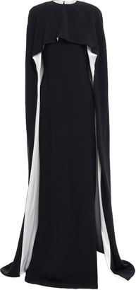 Stella McCartney Convertible Cape-effect Silk Satin-trimmed Crepe Gown