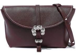 3.1 Phillip Lim Hudson Crystal-embellished Textured-leather Shoulder Bag
